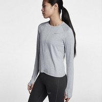 The Nike Element Women's Long Sleeve Running Top.