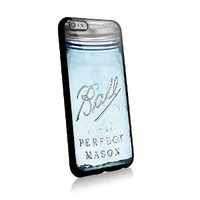 Limited Edision Mason Jar Ball for Iphone and Samsung Galaxy Case (iphone 6 plus black)