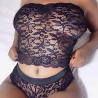 2018 Women's Sexy Lingerie Lace Plus size Underwear Babydoll Sleepwear G-string Plus size Exotic Apparel women lingerie bra set