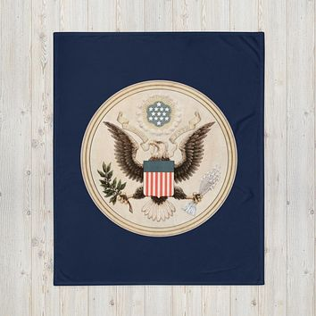 Seal of the United States by Andrew Graham Throw Blanket