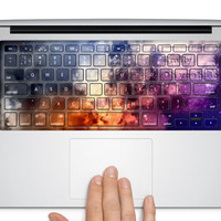colorful galaxy keyboard decal mac pro decals stickers sticker Apple Mac laptop vinyl Nebula Universe surprise gift for her him beautiful
