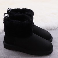 Ugg winter women's boots black shoes
