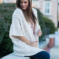 Down To The Wire Cardigan, Cream