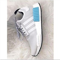 ADIDAS Women Running Sport Casual NMD Shoes Sneakers Blue-Grey
