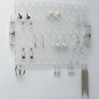 Earring Holder Organizer Wall Mount Closet Jewelry Storage Rack Acrylic - Angelynn's (Earring Angel Clear)