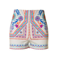 High Waist Tribal Shorts