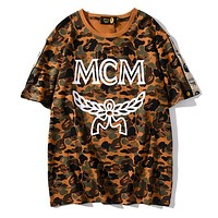 MCM Head Planet Limited T-shirt Mens and Womens Short Sleeve Top tee