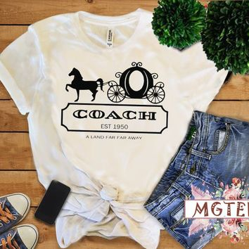 Cinderella Pumpkin Coach Carriage tshirt Cinderella Shirts Cinderella Princess Carriage Top Tees shirt