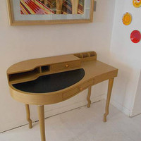 POST MODERN BLEACHED BIMORPHIC LEATHER TOP DESK WITH Gallery memphis sottsass