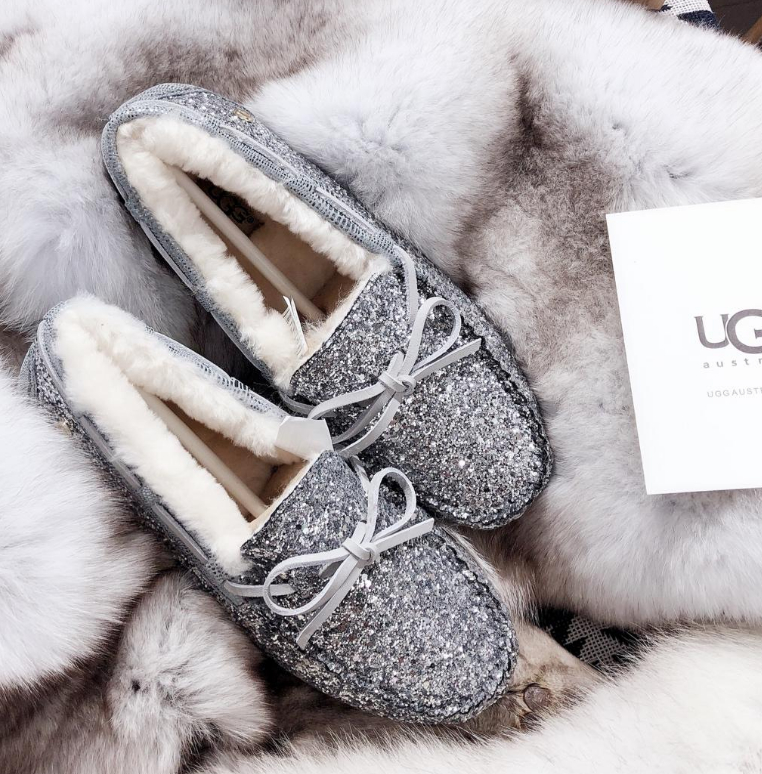 Image of UGG Sequined bow-knot non-slip abrasion resistant rubber sole
