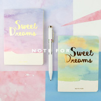 Fancy Sweet Dream Soft Cover A6 Notebook Diary Book Exercise Composition Binding Note Notepad Gift Stationery