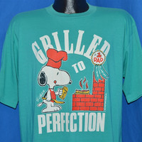 80s Snoopy #1 Dad Grilled to Perfection Peanuts t-shirt Large