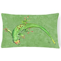 Gecko   Canvas Fabric Decorative Pillow