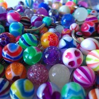"LOW SHIPPING! 20 Assorted TRIPLE SHINE Belly Button Naval Rings 14g 7/16"" SSS ~ HIGHEST QUALITY"