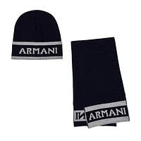 Baby Boys Navy Logo Hat and Scarf (Gift Set)