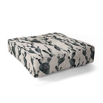 Dash and Ash Midnight Cacti Floor Pillow Square