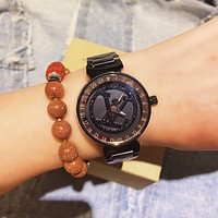 Louis Vuitton LV Newest Fashion Women Men Quartz Movement Wristwatch Watch