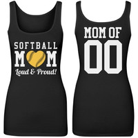 Personalize a Loud Proud Softball Mom Tank Top