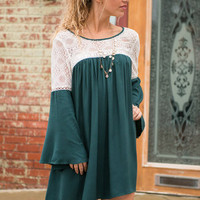 Delicate Day Dress, Emerald