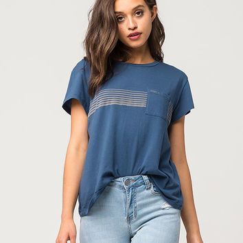RVCA Stripe Womens Pocket Tee