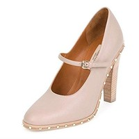 Valentino Soul Rockstud Leather Mary Jane Pump Neutral Size 40.5