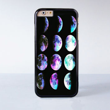 Color Moon Phases Lunar Phases Explained  Plastic Case Cover for Apple iPhone 4 4s 5 5s 5c 6 6s Plus
