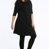 A-line French Terry Dress