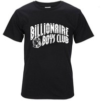 2017 New Fashion BILLIONAIRE BOYS CLUB T-Shirt BBC T Shirts Men Hip Hop Cotton tshirt O Neck billionaire Man Tops Tees Size