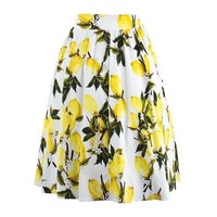 Chicloth Bad Blood Long Floral Pleated Skirt