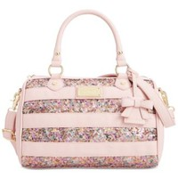 Betsey Johnson Stripe Sequin Satchel, A Macy's Exclusive Style | macys.com