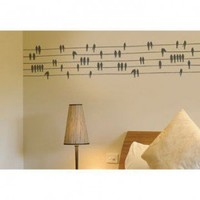 ADZif Spot Birds on a Wire Wall Decal in Warm Grey - S2301-R751 - All Wall Art - Wall Art & Coverings - Decor