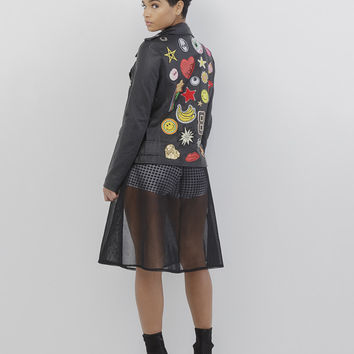 PATCH THAT! LEATHER MOTO JACKET