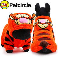 petcircle new arrivals pet dog clothes tiger dog winter coats for chihuahua size XXS-L small and large dog hoodies dog costumes