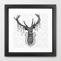 Ornate Deer Framed Art Print by Zandiepants