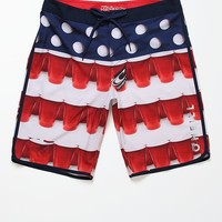 O'Neill Beer Pong Scallop Boardshorts - Mens Board Shorts - White