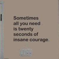 Sometimes All You Need Is wall quote vinyl wall art decal sticker 14x19