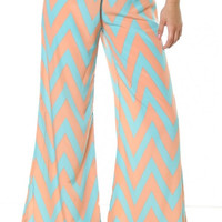 Chevron pants, chevron, zigzag pants, palazzo - Steele's Southern Boutique, LLC