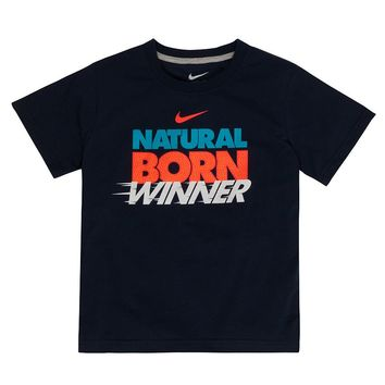 Nike ''Natural Born Winner'' Tee - Toddler Boy, Size: