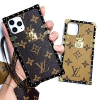 LV Louis Vuitton Phone Cover Case For 7 7plus 8 8plus iPhone X XS XS max XR 11 Pro Max 12 mini 12 Pro Max
