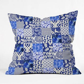Aimee St Hill Blue Is Just A Mood Throw Pillow