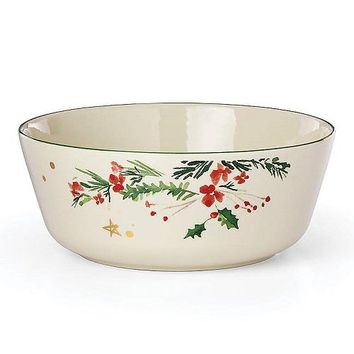 Merry & Pine Serving Bowl by Lenox
