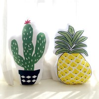 Soft Cushion with Cactus or Pineapple Pattern Decorative Pillows Throw Pillow Birthday Gift for Children, Girlfriend Photographe