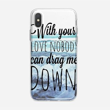 One Direction Drag Me Down Lyric iPhone X Case