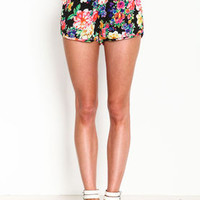 Floral High Rise Shorts - LoveCulture