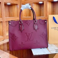 Louis Vuitton LV new style Western fashion all-match embossed simple single shoulder bag