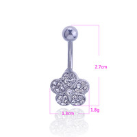 New Charming Dangle Crystal Navel Belly Ring Bling Barbell Button Ring Piercing Body Jewelry = 4804862020