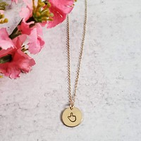 Middle Finger Disc Necklace