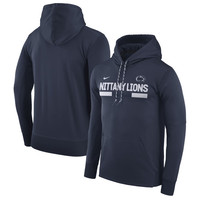 Nike Penn State Nittany Lions Navy 2017 Sideline Performance Pullover Hoodie