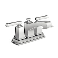 Shop Moen Boardwalk Chrome 2-Handle 4-in Centerset WaterSense Bathroom Sink Faucet (Drain Included) at Lowes.com