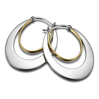 GEOMANIA Hoop Earrings - Fashionable 14kt Gold Plated Sterling Silver